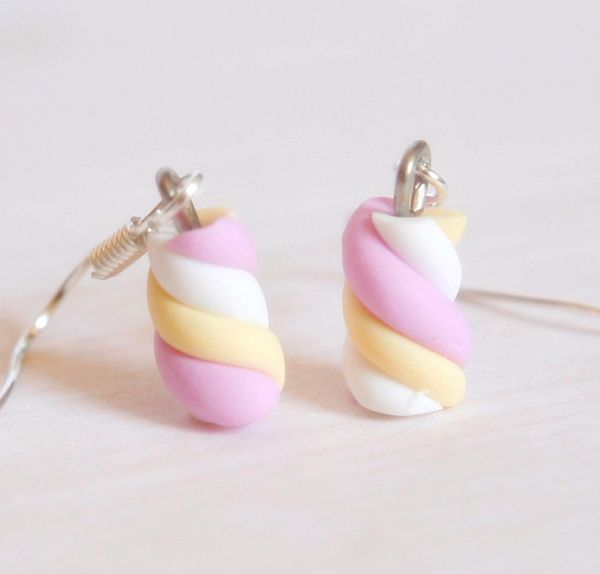 I found 'Marshmallow Miniature earrings polymer clay' on Wish, check it out!
