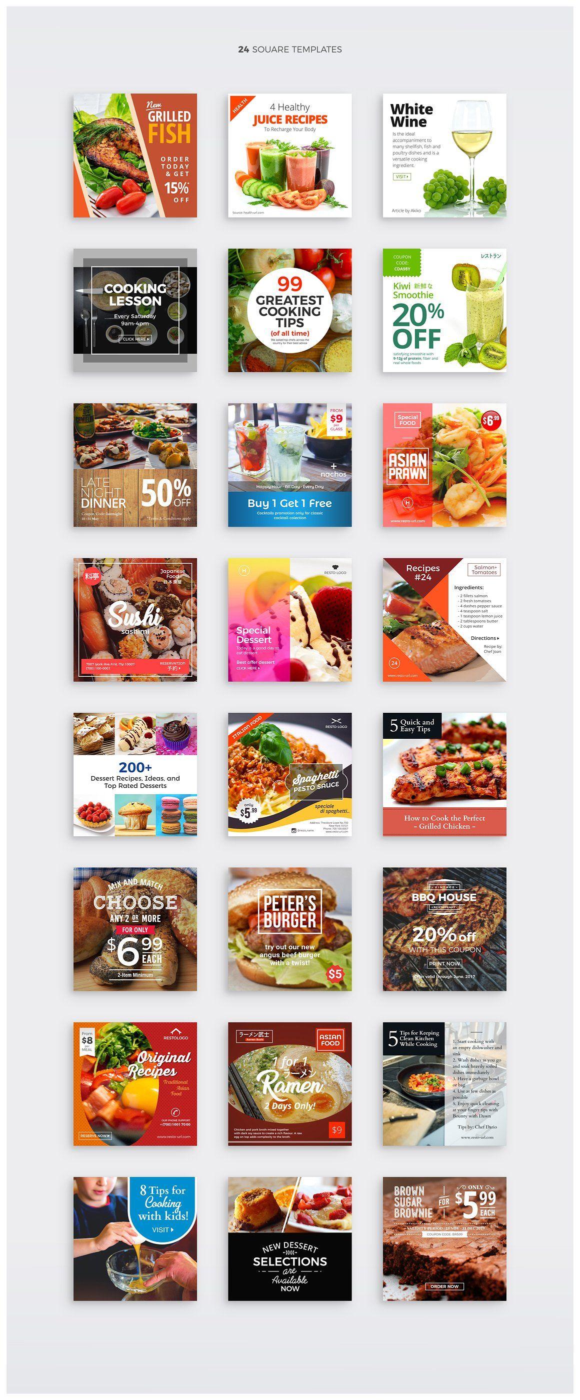 Template Banner Makanan - desain spanduk keren