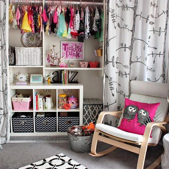 Ideas para un armario low cost poner cortinas cortinas for Poner ganchos cortinas
