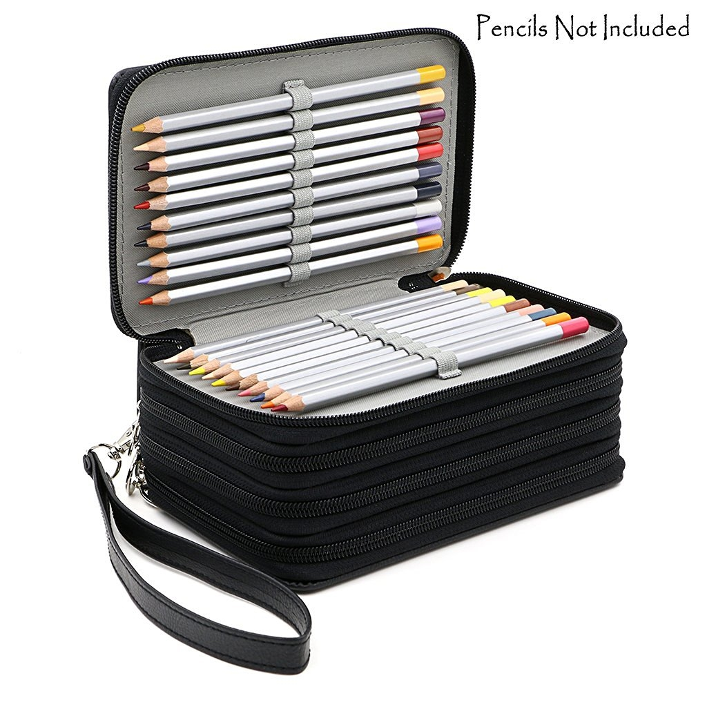 13.94$  Buy now - http://aliolp.shopchina.info/go.php?t=32735666404 - 72 Holders 4 Layers Handy PU Leather School Pencils Case Large Capacity Colored Pencil Bag For Student Gift Art Supplies 13.94$ #shopstyle