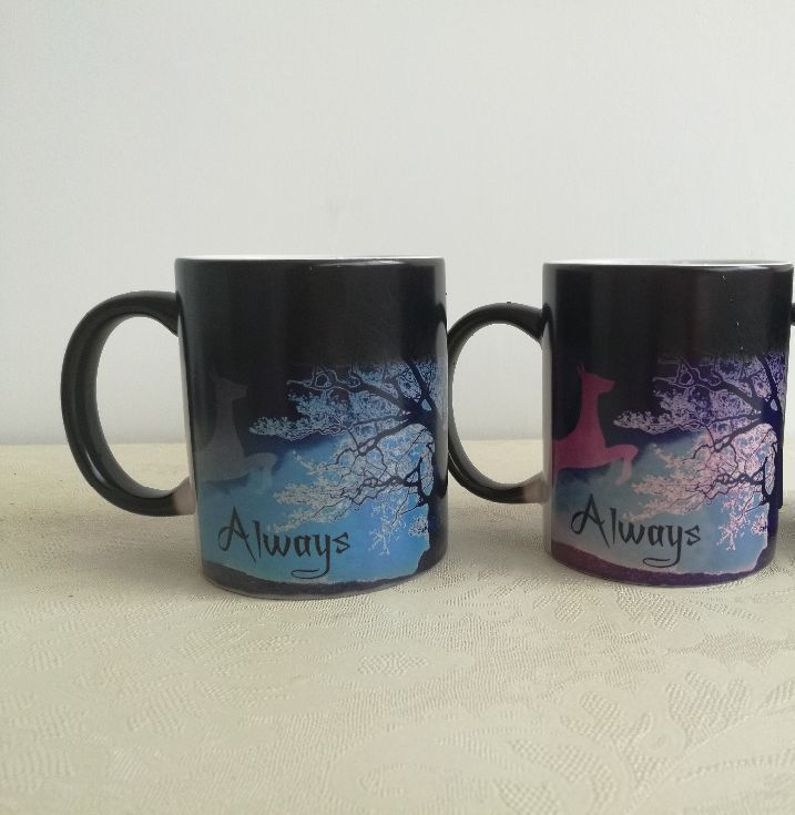 Harry Potter Magic Mug After All This Time Always Color Changing Blue Purple Harry Potter Magic Blue And Purple Mugs