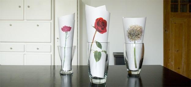 Decorar con jarrones de vidrio Floreros Vidrio y Flor