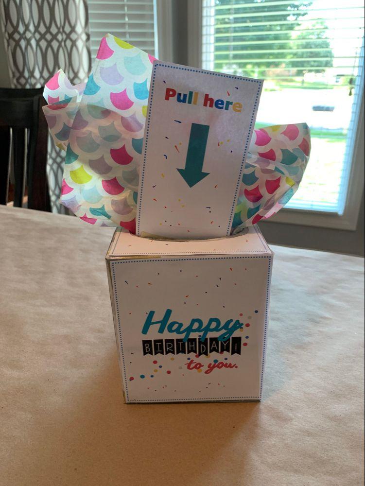 Birthday money box gift idea birthday money gifts