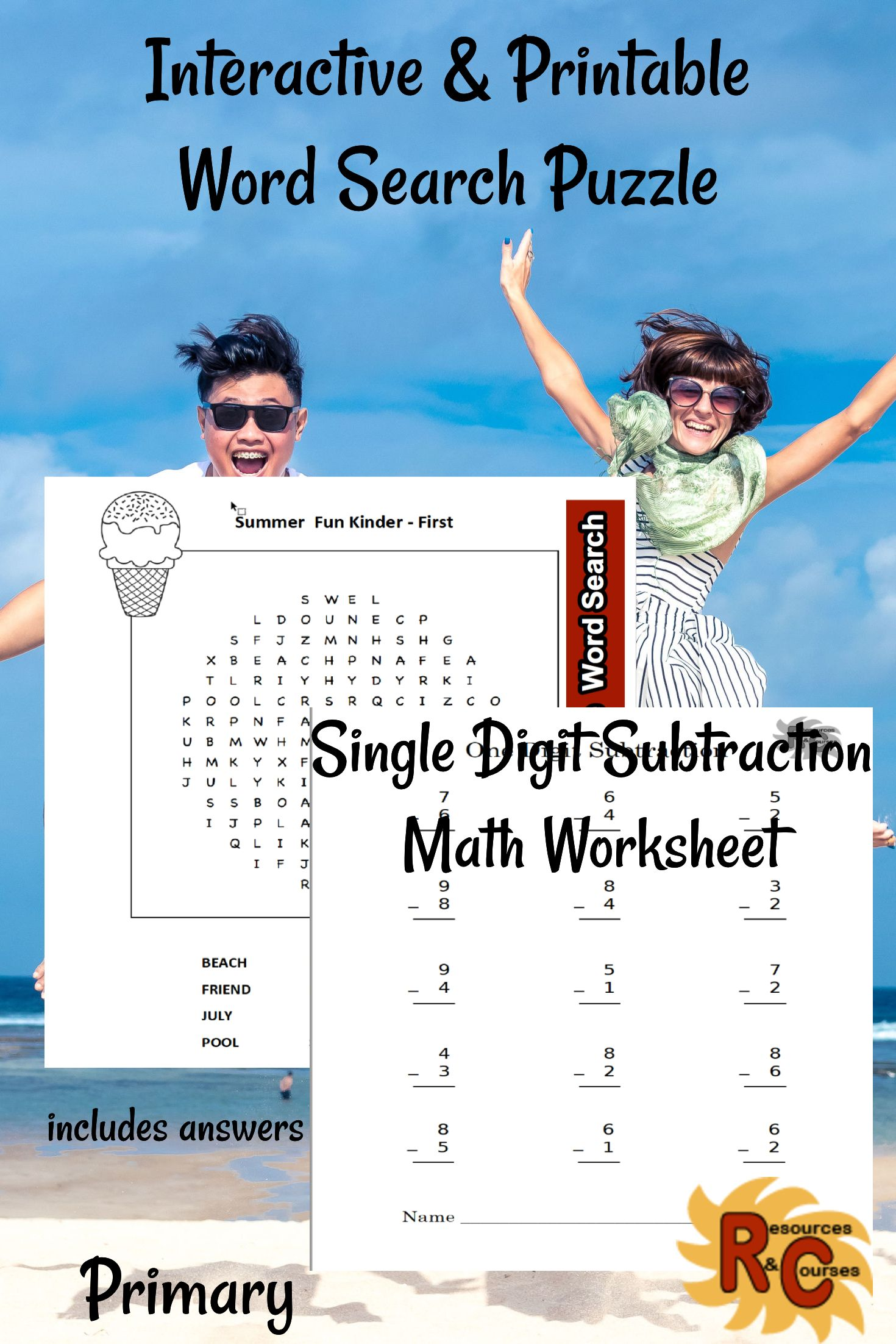 These Fun And Engaging Word Searches Amp Math Worksheets Are