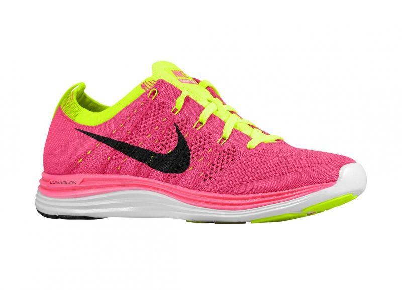 women\u0027s Nike Flyknit Lunar 1+ in pink @CitySports #shoes #fitness #Nike