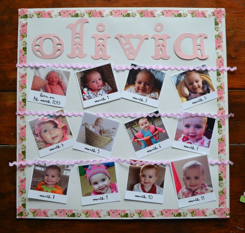 DIY First Birthday Gift: Month-by-month Photo Frame