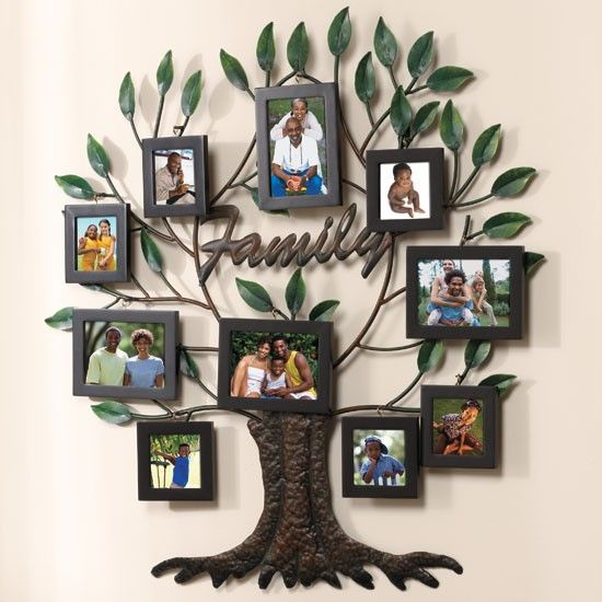 New 27 X28 Photo Family Tree Metal Wall Art Family Tree Wall Pictures Family Tree Wall Family Tree Collage