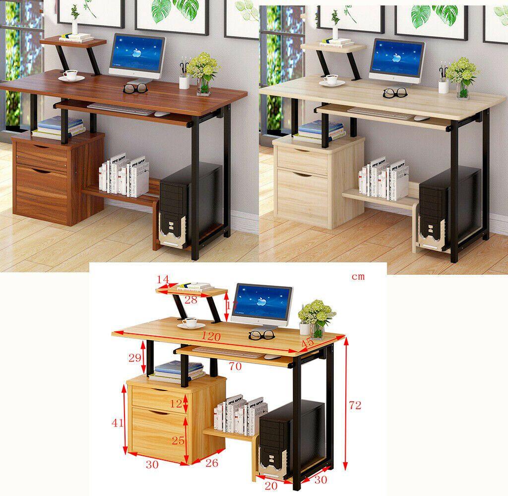 Table Dordinateur Bureau Informatique Laptop Poste De Travail Tiroir Chambre Informatique Idees De Informatique Informatique Desk Corner Desk Home Decor