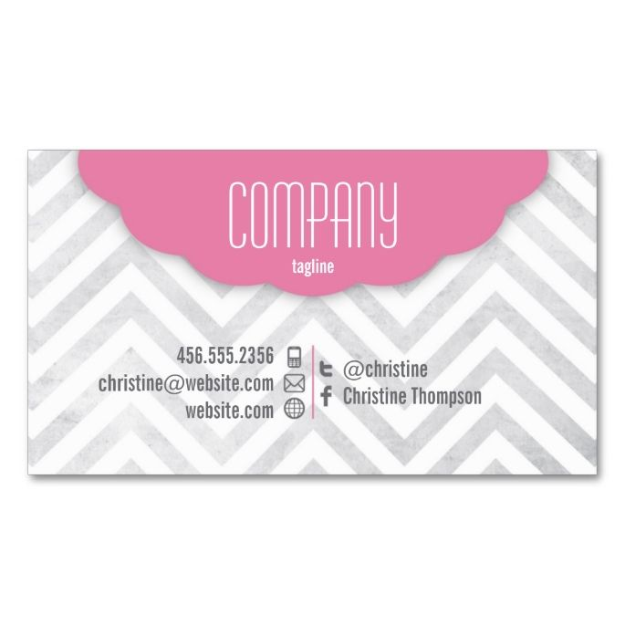 Cute chevron professional business card make your own business card cute chevron professional business card make your own business card with this great design reheart Image collections