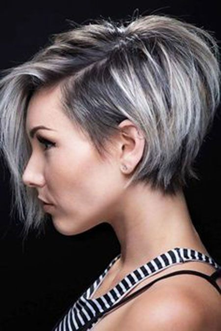 Pixie Cut Lange Pony Pixie Unter Trendy Gestapelt Hair In 2019