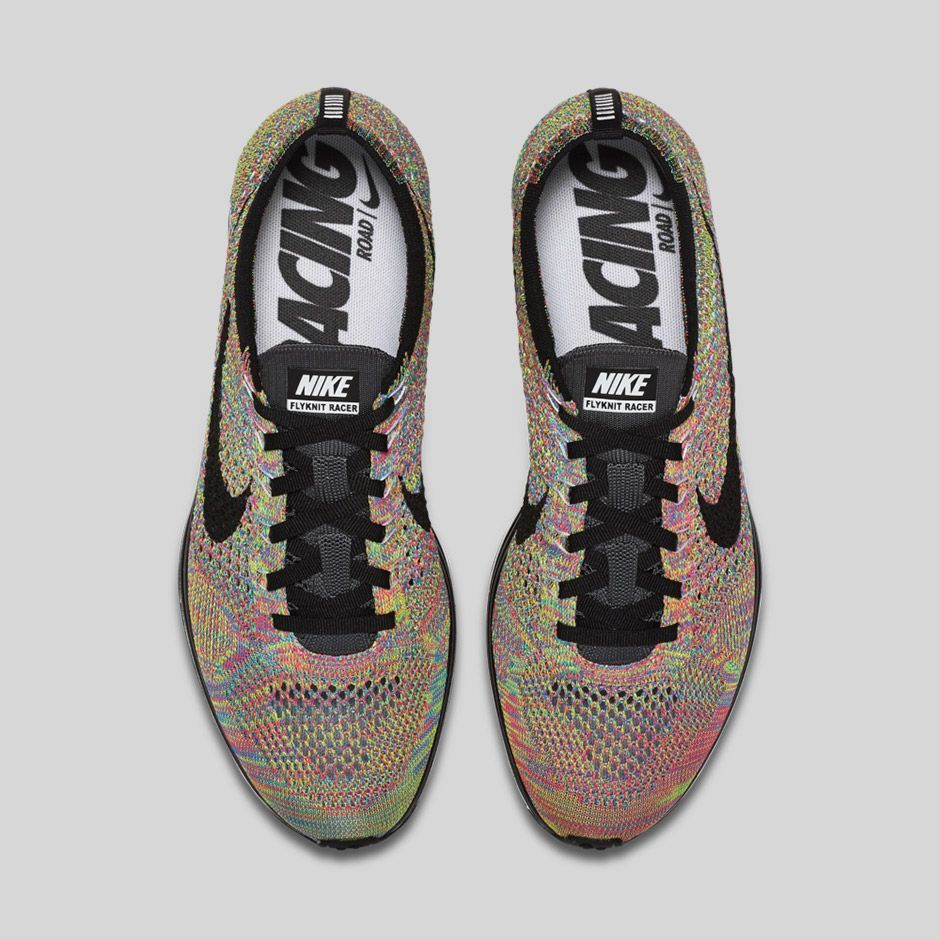 05c42fcf9a3f5 ... greece the nike flyknit racer is releasing this week in a rainbow  colorway eu kicks sneaker