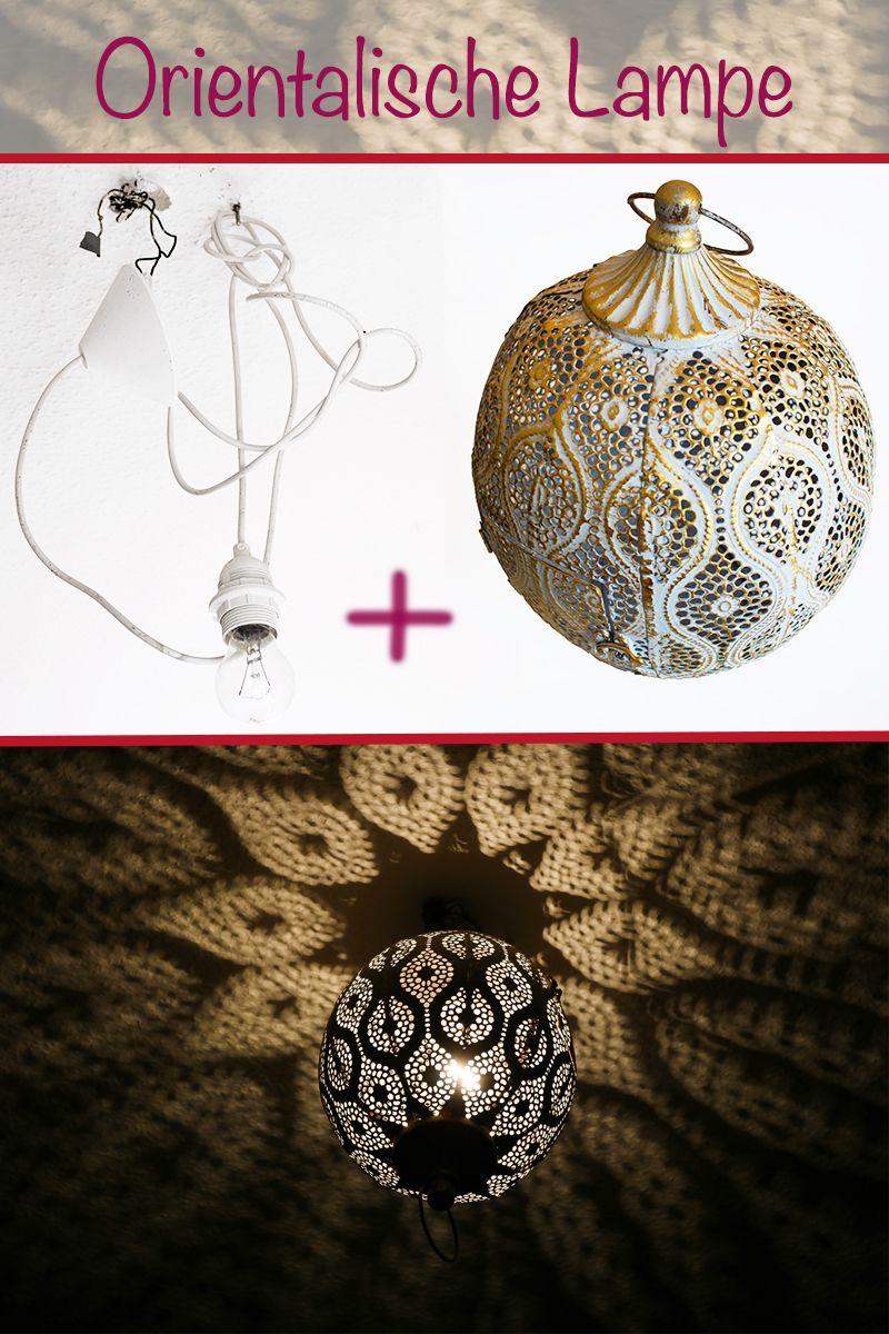 Upycling Orientalische Lampe Aus Einer Laterne Funkelfaden Orientalische Lampen Orientalisch Lampe