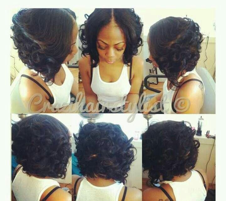 Sewing in a bob weave with bangs is something that you would do by hair style pmusecretfo Gallery