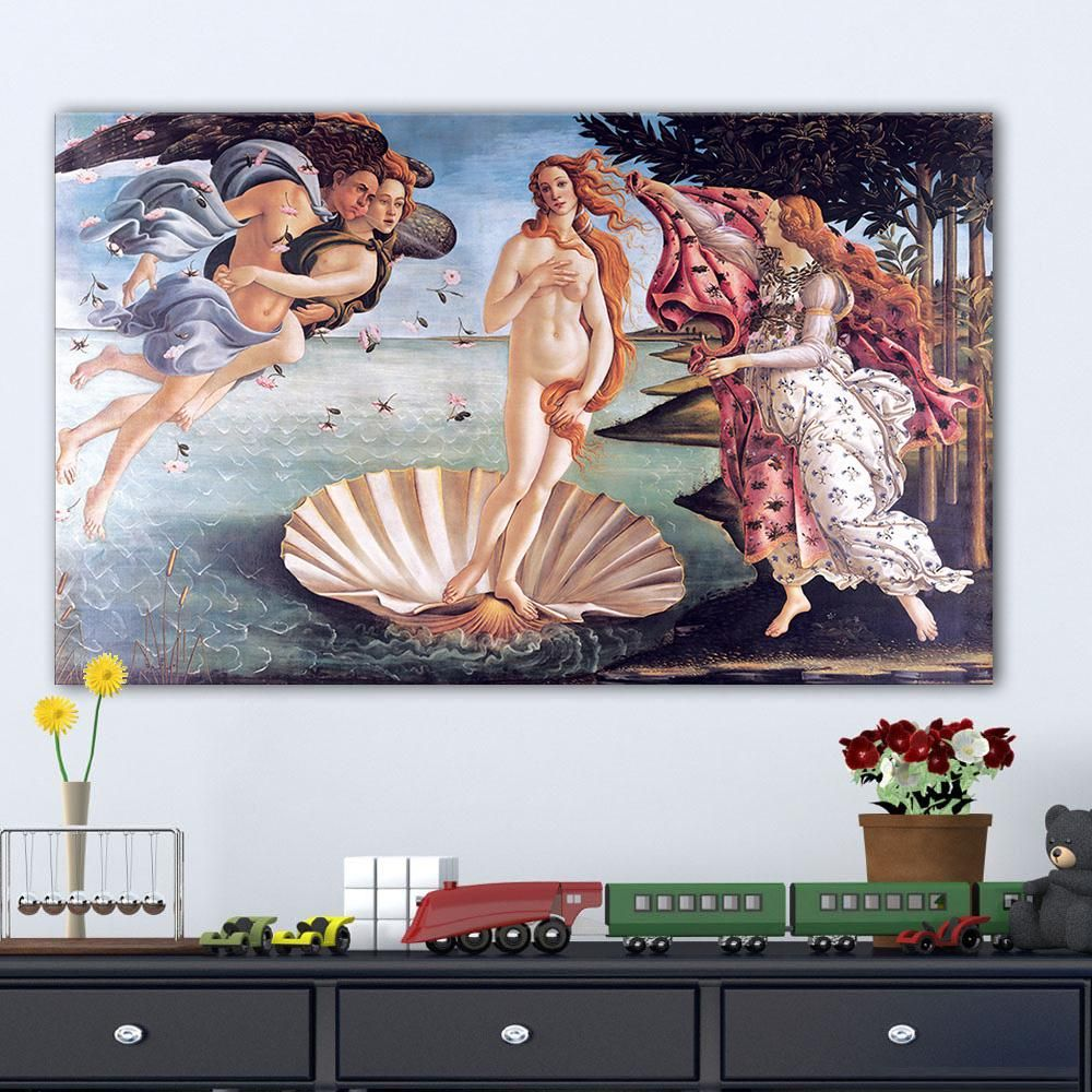 Large pop art posters and prints acylic canvas pictures birth of venus oil paintings for living