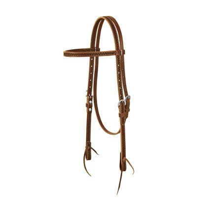 "(Limited Supply) Click Image Above: Weaver Hand Tooled 5/8"" Browband Headstall"