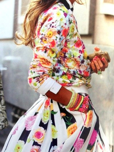 Clashing of Colors... These styles are exploding with colorful hues of the rainbow.