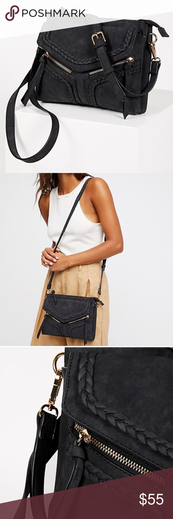 3609865b9919 Free People Leanna Braided Crossbody Bag Free People line Violet Ray Leanna  faux leather crossbody bag