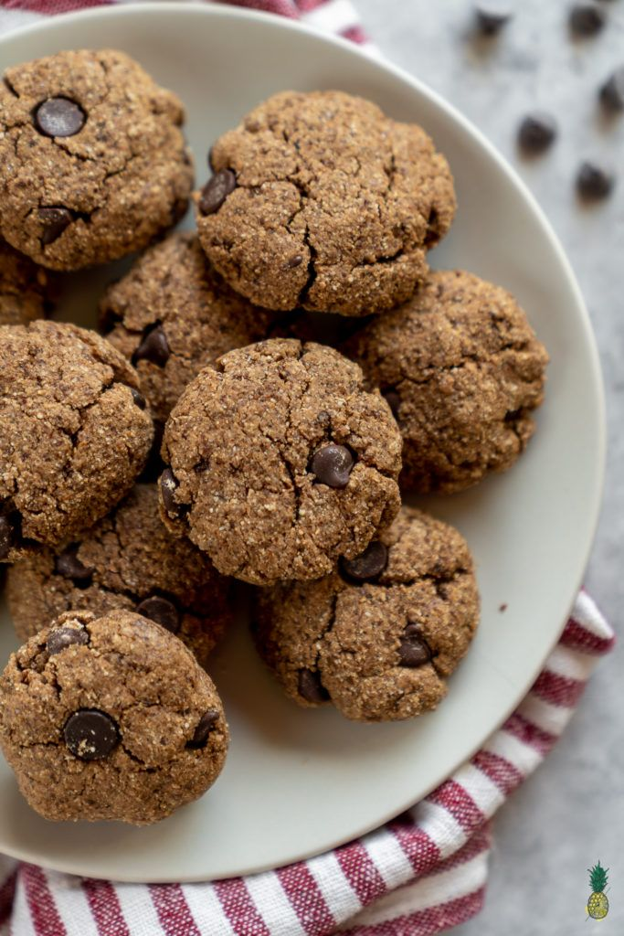 Coconut Flour Chocolate Chip Cookies Vegan Gluten Free