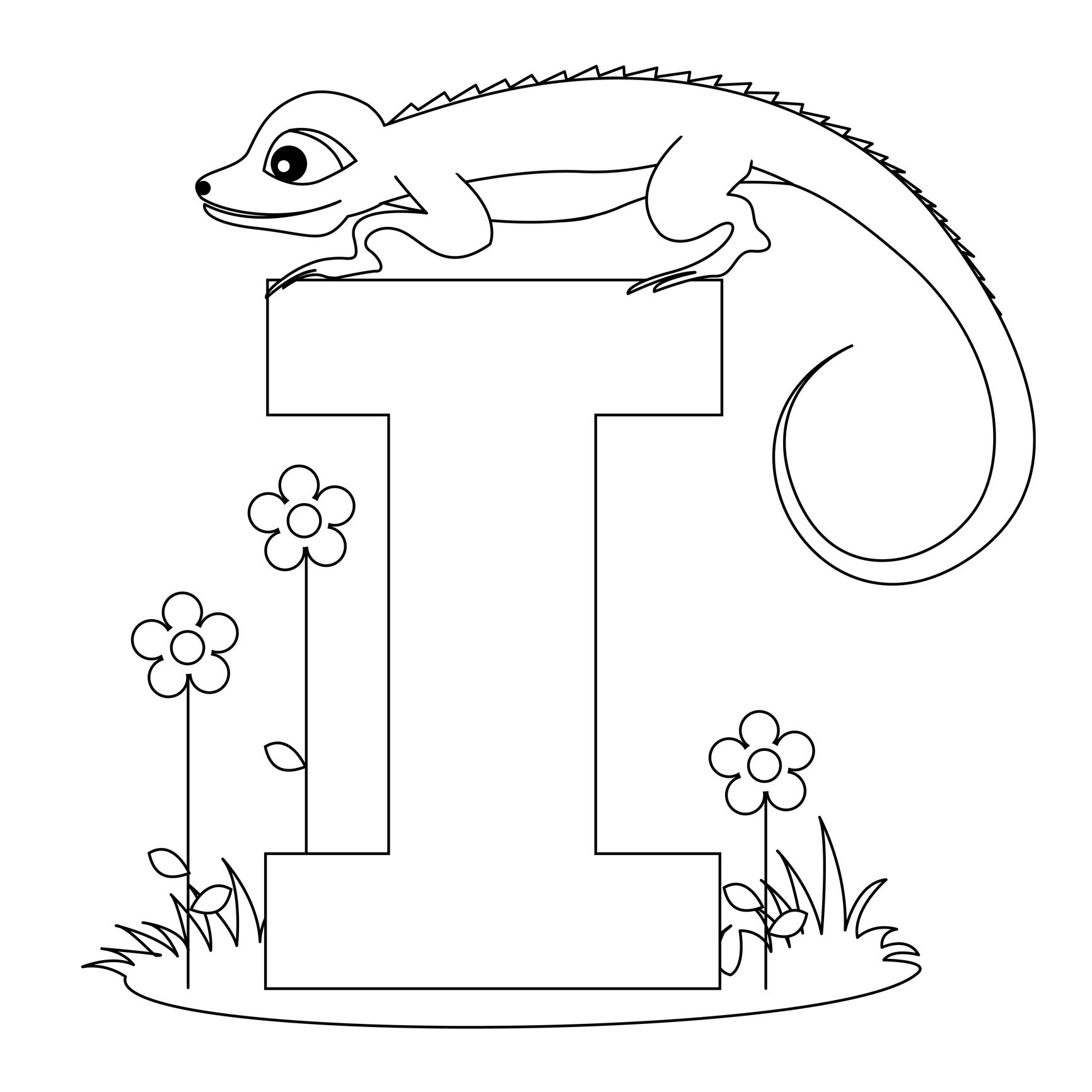 image detail for animal alphabet letter i coloring worksheet from kiboomu worksheets - I Colouring Pages