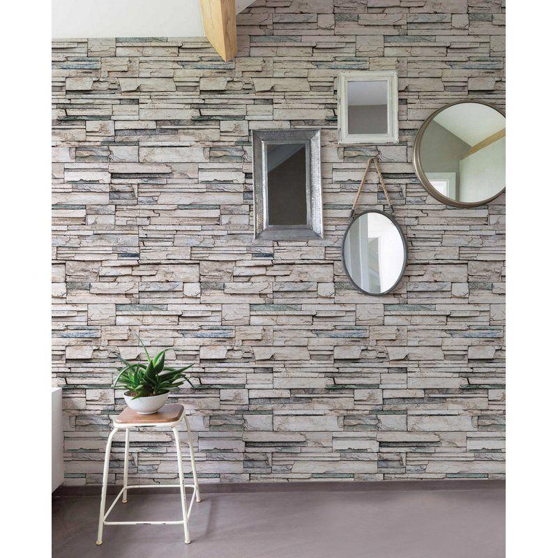 Lepe Matte Peel And Stick Wallpaper Panel Faux Stone Wallpaper Faux Stone Walls Stone Wallpaper