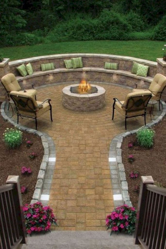 55 Amazing and Cheap Fire Pit and Backyard Landscaping ...