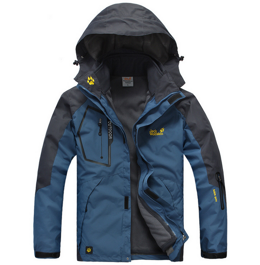 Coat Men Wool Outdoor Cold Winter Thermal Warm Camping Hiking Fashion Outwear