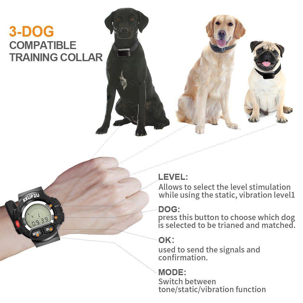 Kkup2u Dog Training Collar Dog Shock Collar Beep Vibration Shock