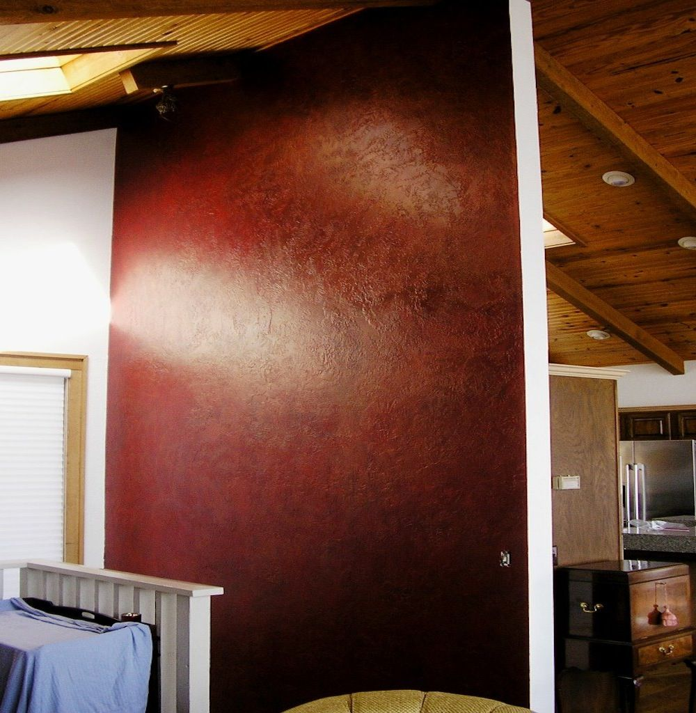 Wall & Matching Insets Painted With Red Posh Red And An