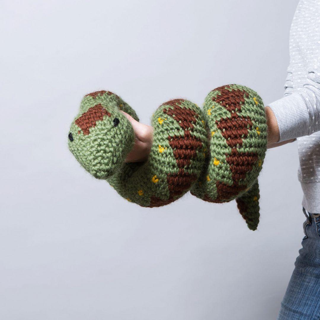 Sylvia The Giant Snake Crochet Kit By Wool Couture Crochet Kit Wooden Crochet Hooks Needle Felting Kits [ 1080 x 1080 Pixel ]