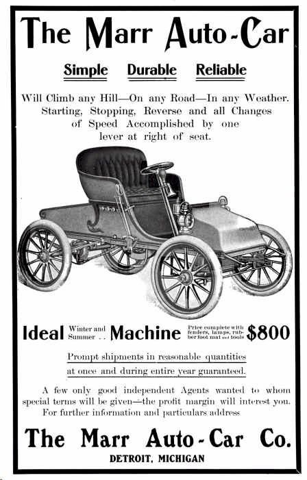 Car Brands Starting With L >> The Marr Autocar Was An Automobile Built In Elgin Illinois By The