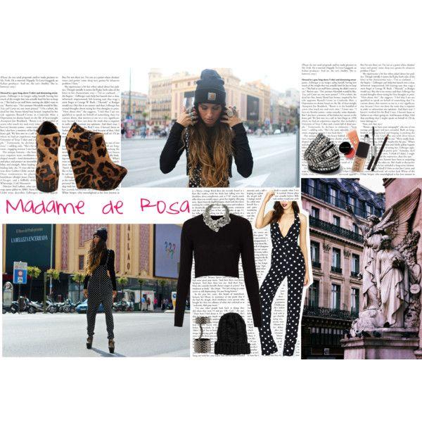 fashion blogger: madame de rosa. by malala29 on Polyvore featuring moda, Topshop, Reformation, Giuseppe Zanotti, Henri Bendel, Kenneth Jay Lane, AllSaints and ASOS