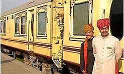Luxury train travel through India