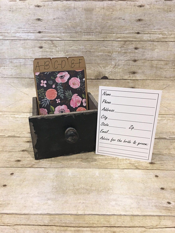 address box wedding guest book guest book alternative address