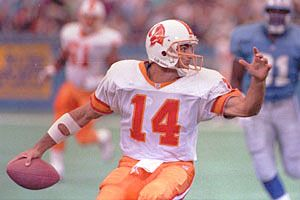 9c2ac1e07 Vinny Testaverde in the old Tampa Bay Bucs uniform.