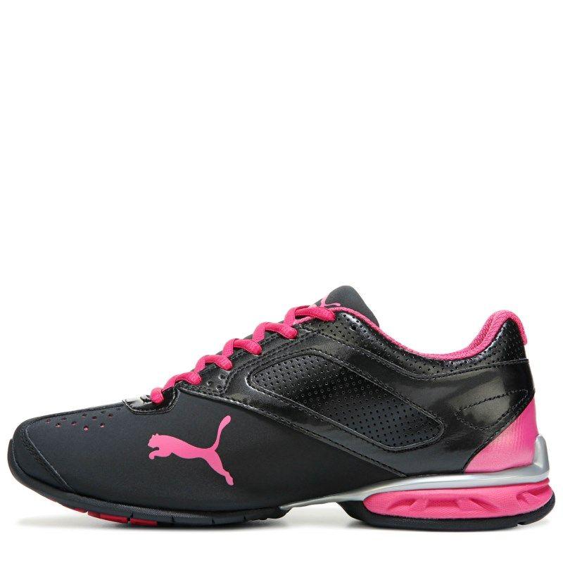 ec27ac2b628 Puma Women s Tazon 6 Softfoam Wide Running Shoes (Black Silver Pink) - 6.5 W