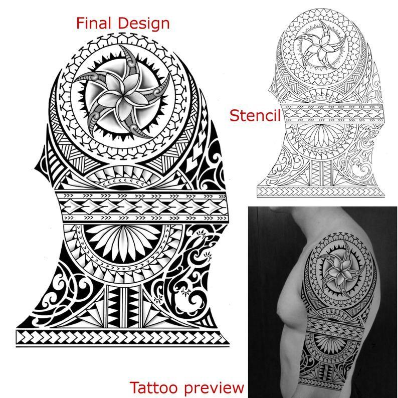 Custom Tattoo Design Etsy In 2020 Quarter Sleeve Tattoos Maori Tattoo Designs Sleeve Tattoos