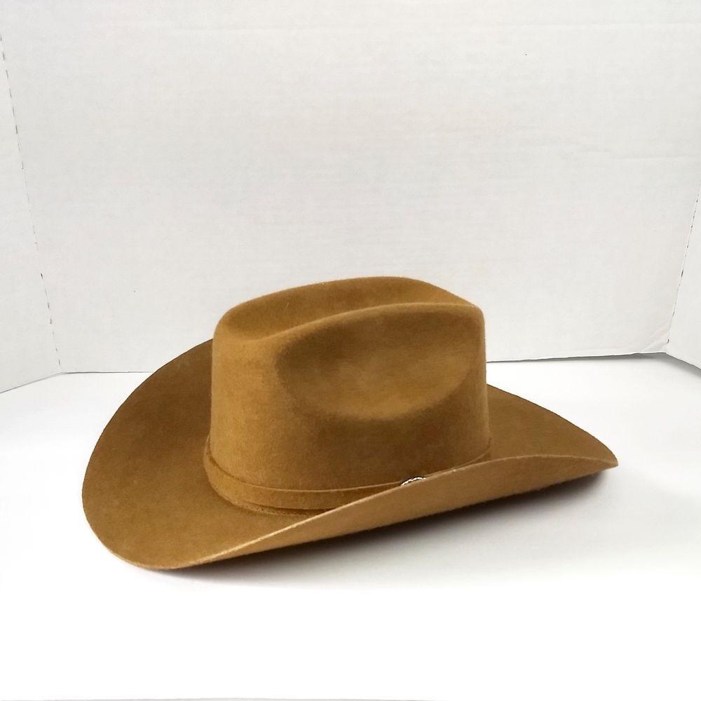 e0420f13e20 Mens Cowboy Hat Wool Felt Brown FARUVIQ Made in Mexico 7 1 2 US 58 MEX   Faruviq  CowboyHat