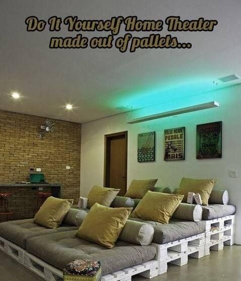 Home Theater Design Ideas Diy: Pin By Derrick Chaplain On DIY
