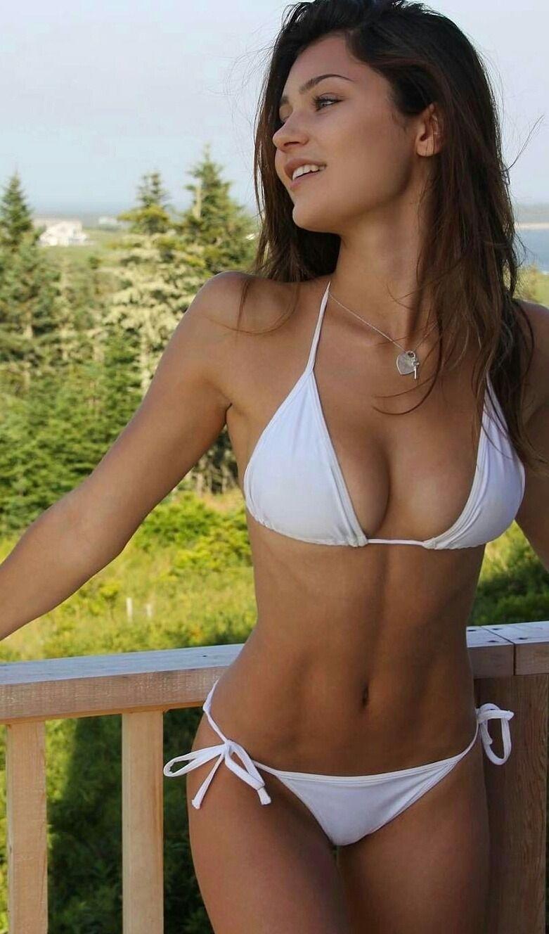 bikini Hot sexy brunette