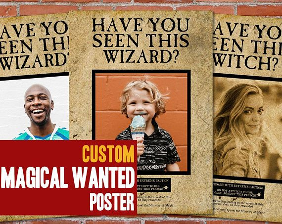 Printable Wanted Posters Delectable Custom Harry Potter Wanted Printable Poster Magical Wanted  Custom .