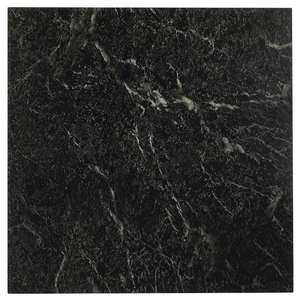 Nexus Self Adhesive Vein Marble Vinyl Floor Tile Black White 12x12 Vinyl Flooring Vinyl Tiles Flooring