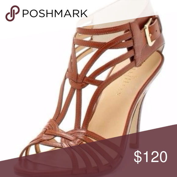a58e669c951 Cole Haan Jeanette Woven Brown Leather Sandal 8 Gorgeous heels  and Nike  Air technology