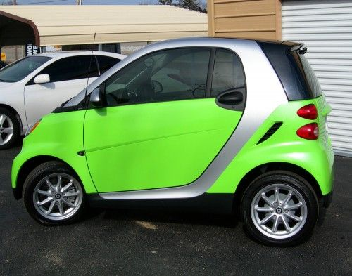 Lime Green Smart Car Wrap By Paradise Graphix