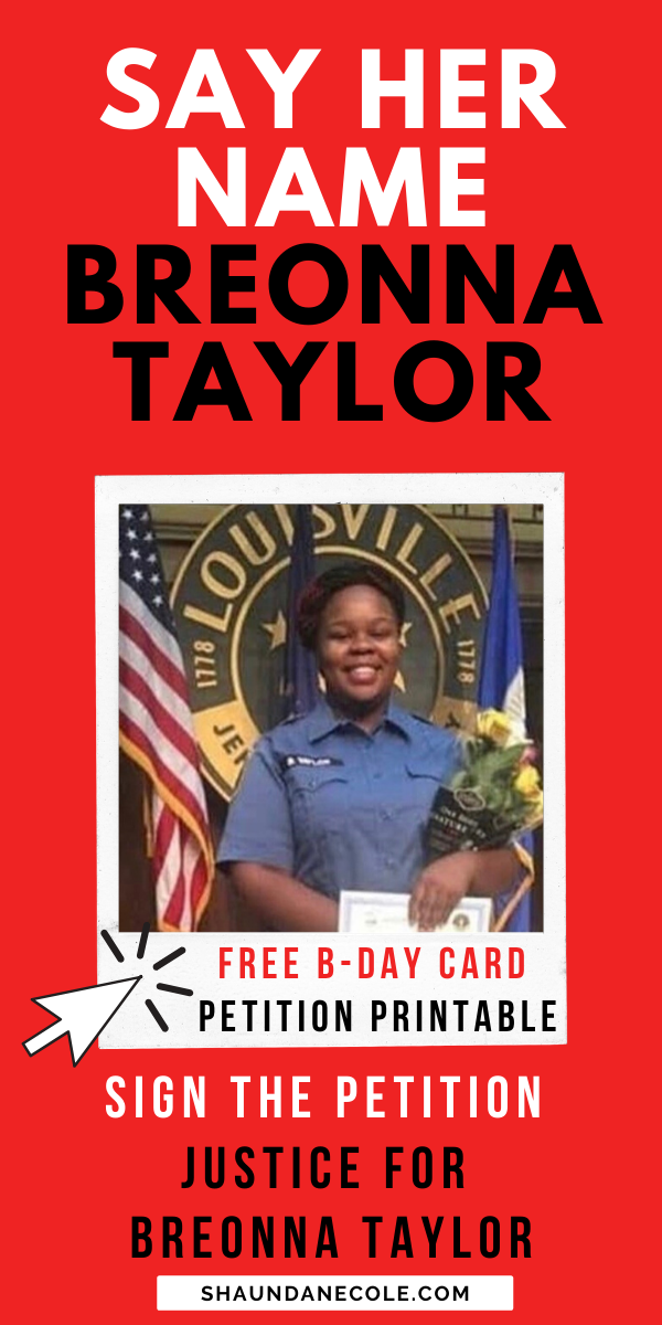 Black Lives Matter Justice For Breonna Taylor Inspired By Black Bloggers Black Lives Matter Black Bloggers Say Her Name