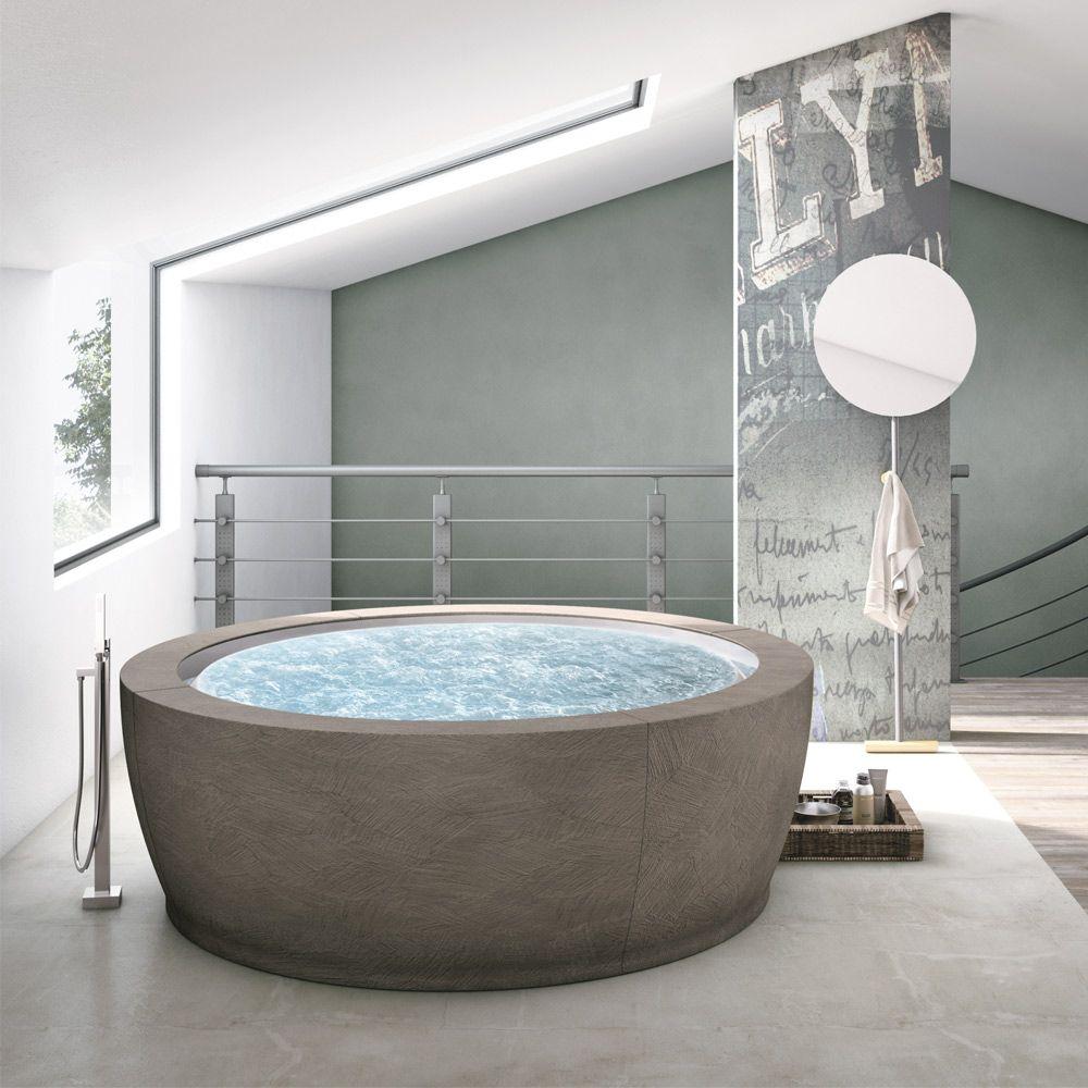 Vasca Da Bagno Italiano.Banyo Seramik Bathroom Particolare Vasca Idromassaggio Hafro