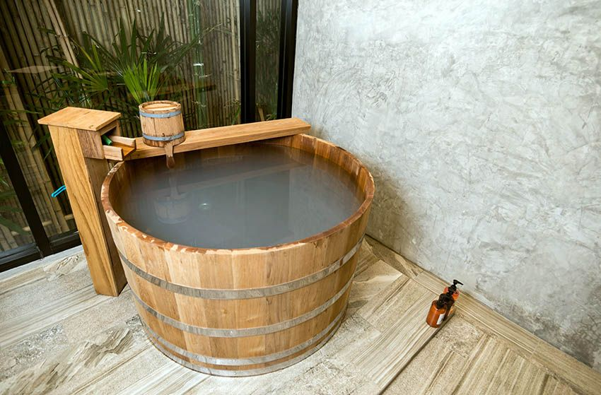 Wood Japanese Soaking Tub Outdoor Japanese Soaking Tubs Japanese Bathtub Outdoor Tub Japanese soaking tub for sale