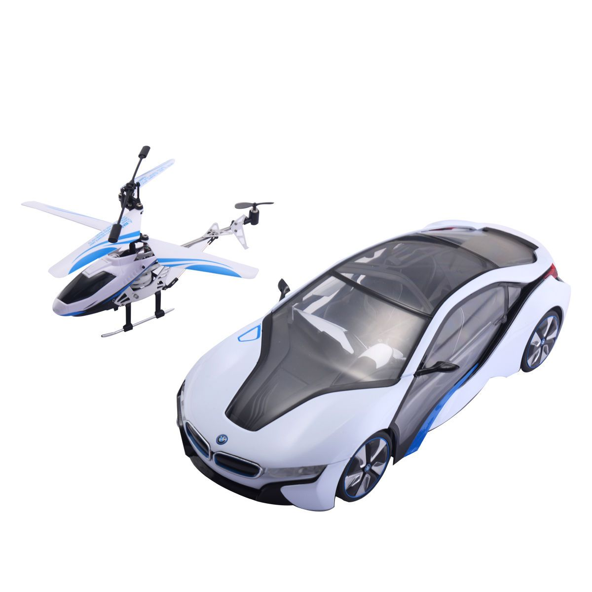 1 14 2 4g Speed Twins Bmw I8 Car Helicopter Radio Remote Control