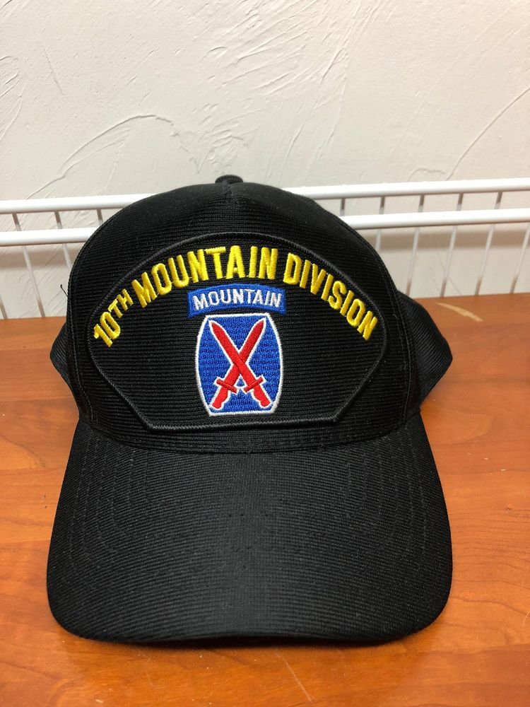 U.S ARMY 10TH MOUNTAIN DIVISION HAT OFFICIAL MILITARY BALL CAP U.S.A MADE   fashion  clothing  shoes  accessories  mensaccessories  hats (ebay link) 1ae0efc54a8