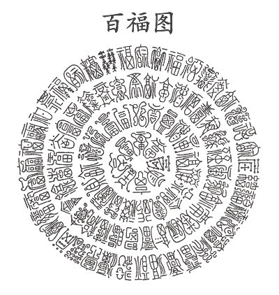 Chinese Lucky Symbol 100 Blessing Characters Lucky Symbols Chinese Patterns Chinese Calligraphy