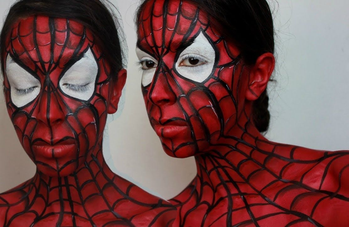 Uncategorized Spider Man Faces an amazing spider man face paint tutorial by bethany facepaint bodymakeup